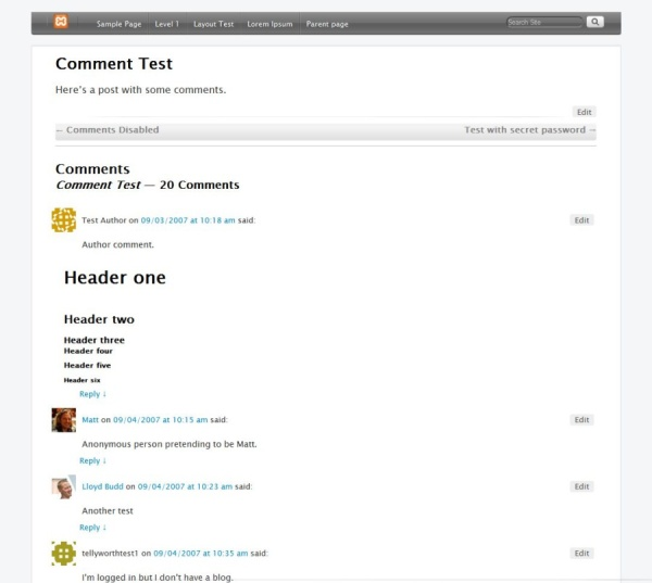 Applish subTheme-Comment Test