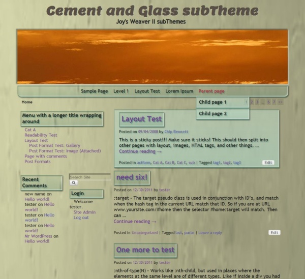 Cement and Glass subTheme-Blog