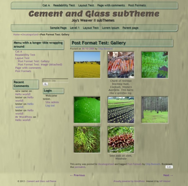 Cement and Glass subTheme-Gallery