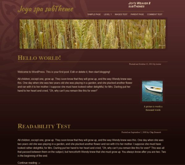 Joya spa subTheme-Blog