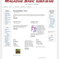 Magazine Basic subTheme-Blog