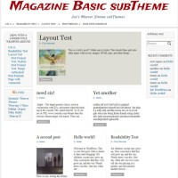 Magazine Basic subTheme WeaverX-detail