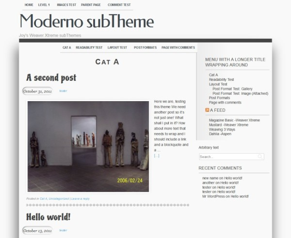 Moderno subTheme WeaverX-Category