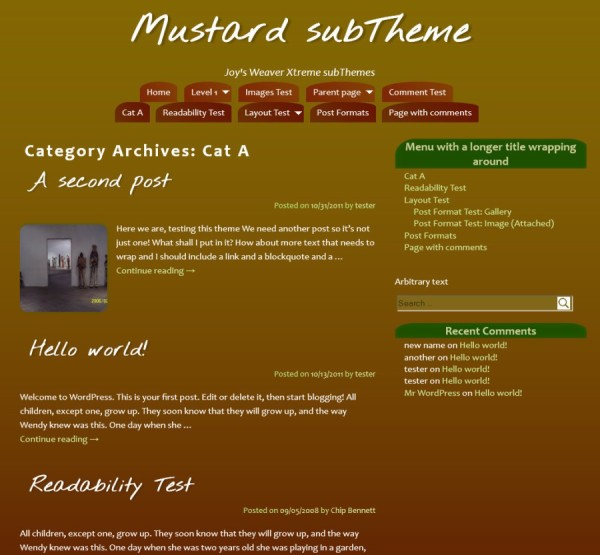 Mustard subTheme-Category