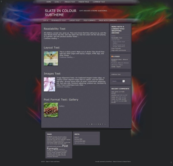Slate in Colour subTheme WeaverX-Blog full