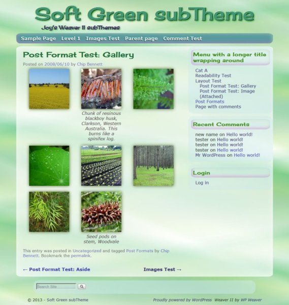Soft Green subTheme-Gallery