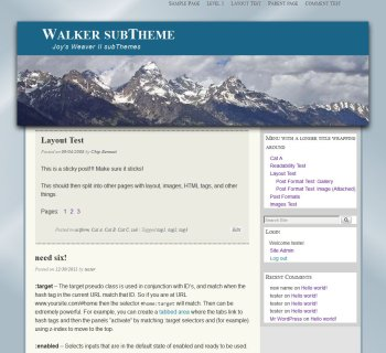 Walker subTheme-Blog2